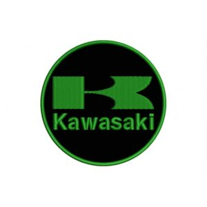 KAWASAKI Green And Black (Circle Logo) Embroidered Patch