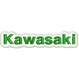 KAWASAKI (Letters) Embroidered Patch green and white