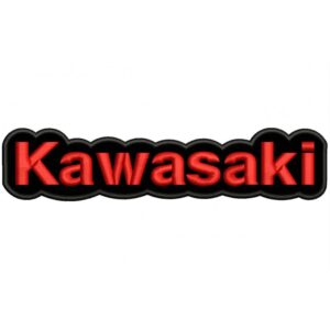 KAWASAKI Black and red (Letters) Embroidered Patch