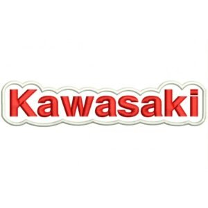KAWASAKI (Letters) Embroidered Patch red and white