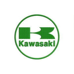 KAWASAKI Green And White(Circle Logo) Embroidered Patch