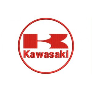 KAWASAKI Red And White(Circle Logo) Embroidered Patch