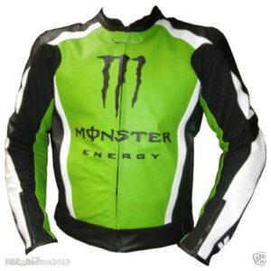 Kawasaki Motorcycle Green Leather Jacket