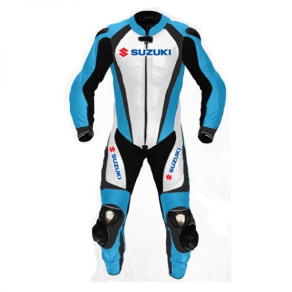 Men's Suzuki Motorcycle Racing Leather Motogp Suit