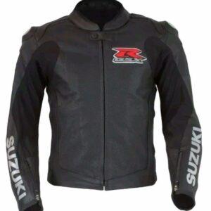 SUZUKI GSXR MOTORCYCLE LEATHER RACE JACKET