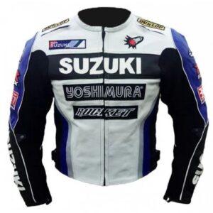 SUZUKI YOSHIMURA MOTORCYCLE LEATHER RACING JACKET