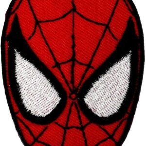 Spider-man Mask Embroidered iron-on/sew-on patch