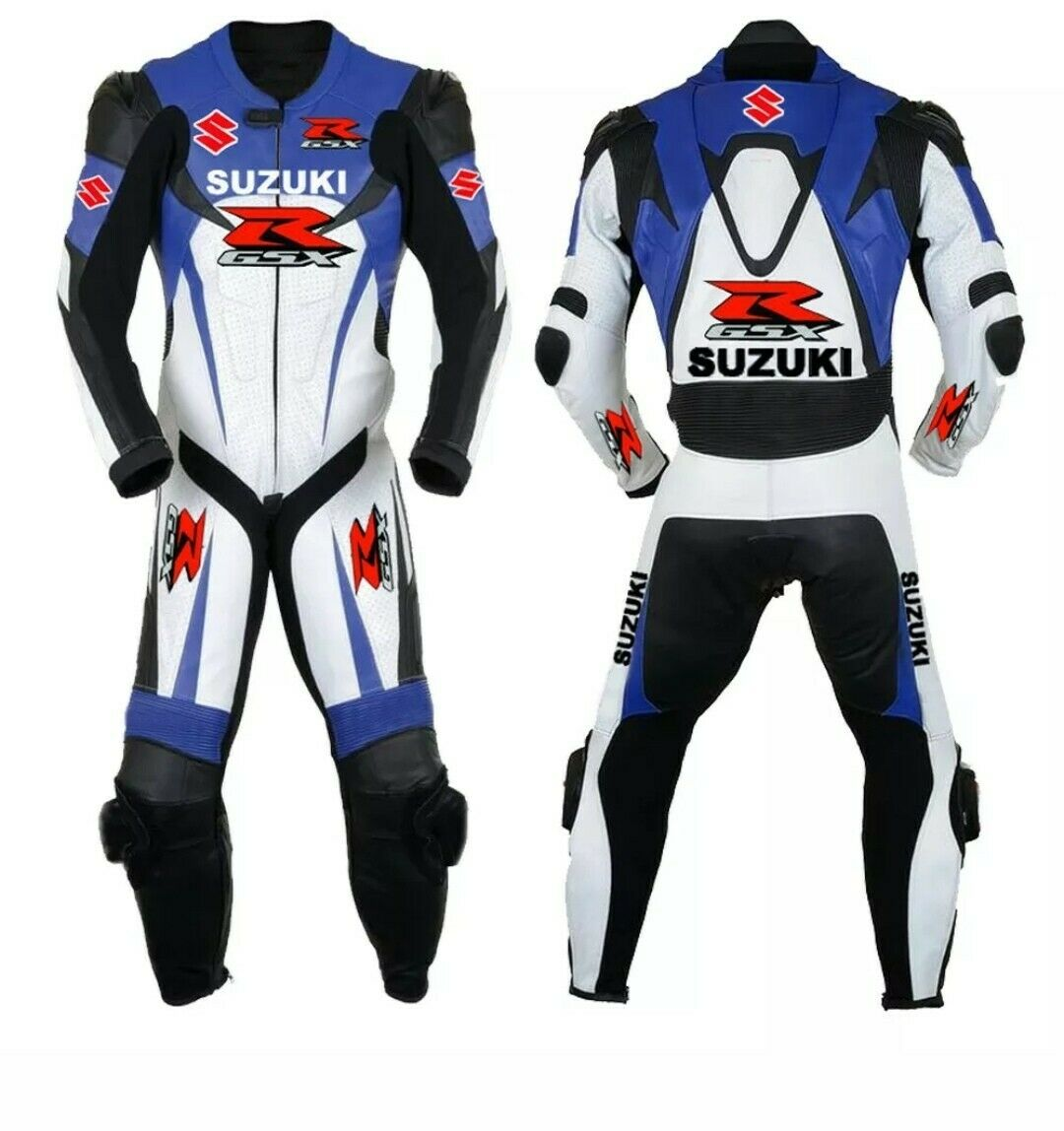 Suzuki GSXR Motorcycle Leather Suit Ce Approved