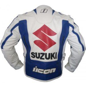 Suzuki Motorcycle Men Leather Jacket