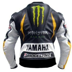 Valentino Rossi Yamaha Monster Energy Bike Racing Leather Jacket