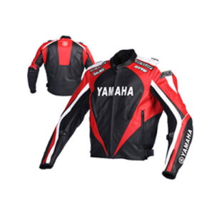 Yamaha Motorcycle black and red Racing Leather Jacket