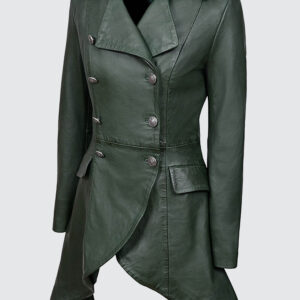 back-buckles-green-washed-real-leather-jacket-coat-gothic