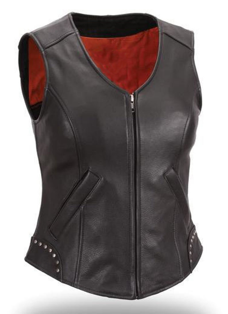 black-leather-studded-vest