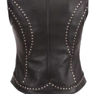 black-leather-studded-vest