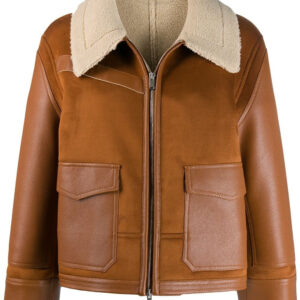 brown-faux-leather-shearling-trimmed-fur-jacket