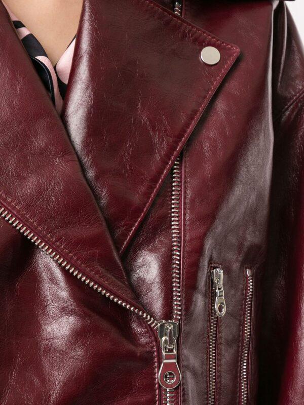 burgundy-red-leather-zipped-biker-jacket
