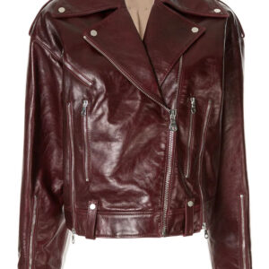 burgundy-red-leather-zipped-biker-jacket