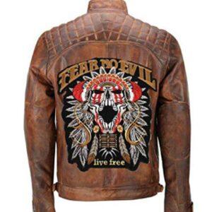 cafe-racer-brown-fear-no-evil-biker-leather-jacket