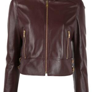 maroon-cropped-leather-biker-jacket