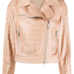 nude-pink-lamb-leather-crocodile-effect-biker-jacket