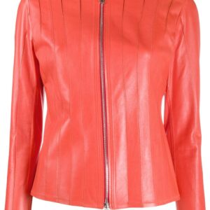 orange-stitched-panel-leather-jacket