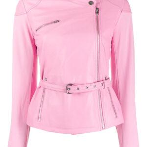 pink-lambskin-belted-slim-fit-jacket