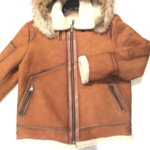 Tobacco Burnish Fox Shearling