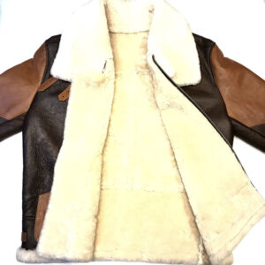 Two Tone Brown Aviator Shearling