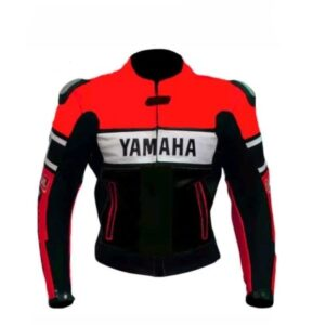 YAMAHA MOTORCYCLE RED LEATHER RACING JACKET