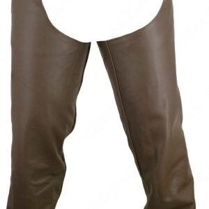 Men Seamless Brown Leather