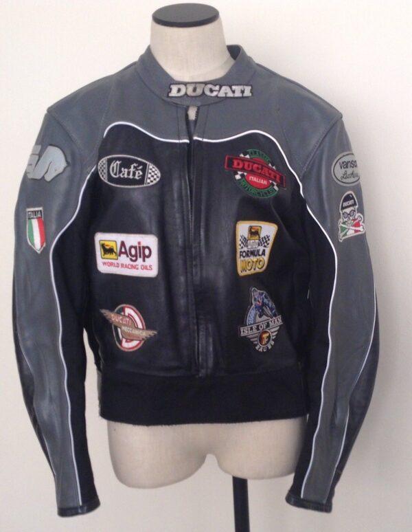 Rare Vintage Vanson Buell Ducati Leather Motorcycle Jacket