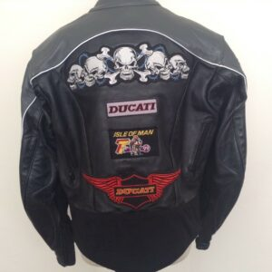 Rare Vintage Vanson Buell Ducati Leather Motorcycle Jacket