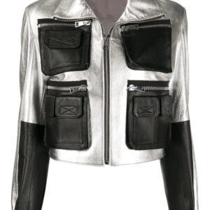 black-and-silver-tone-faira-leather-jacket