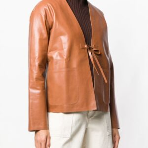 camel-brown-calf-leather-short-jacket