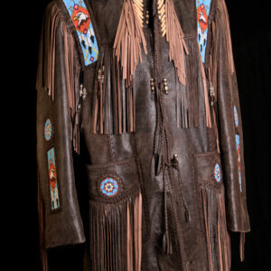 chocolate-brown-native-american-beaded-work-fringed-leather-coat