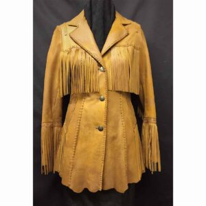 cognac-distress-fringed-bohemian-suede-leather-coat