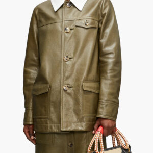 contrast-collar-olive-green-leather-jacket