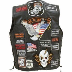 diamond-plate-rock-design-genuine-buffalo-leather-biker-vest-with-42-patches