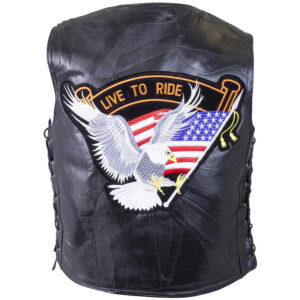 diamond-plate-rock-design-genuine-buffalo-leather-vest-with-eagle-patch