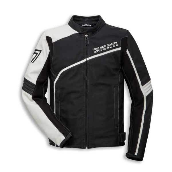 ducati-coarse-black-and-white-motorcycle-jacket