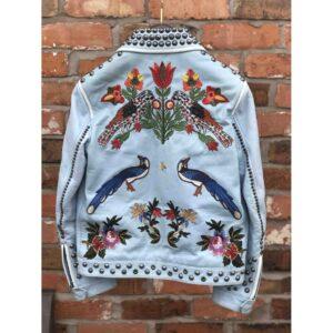 embellished-studded-padded-blue-leather-jacket