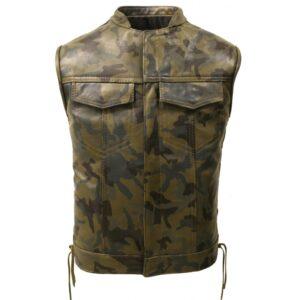 hillside-camouflage-biker-leather-vest