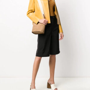Mustard Yellow Open Front