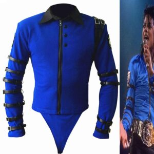 new-rare-mj-michael-jackson-bad-tour-bule-bodysuit-skinny-jacket-punk-style-heavy-metal-music-ultimate-collection