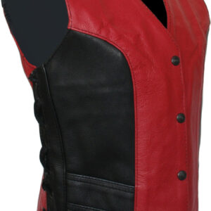 red-and-black-leather-vest