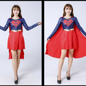 Supergirl Costume Halloween Party Fancy Dress Outfit