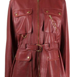 terracota-red-lambskin-belted-leather-coat