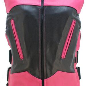 two-tone-interceptor-black-hot-pink-leather-vest