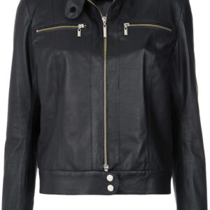 black-leather-buttoned-collar-jacket