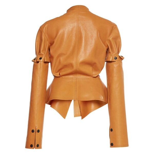 brown-leather-pu-removable-ruffle-runway-patchwork-short-coat